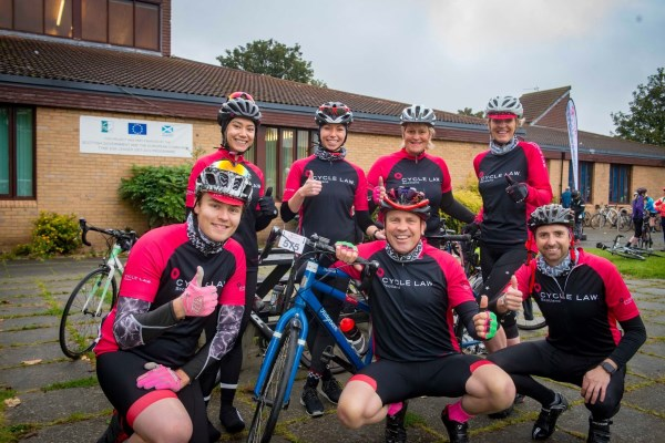 Cycle Law Scotland Legal team at Poppy Scotland