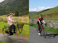 Jodi on different bikes