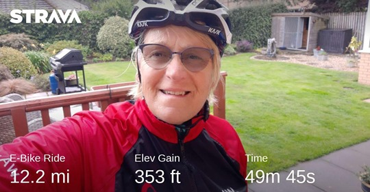 Marny clocking up some more miles on Strava