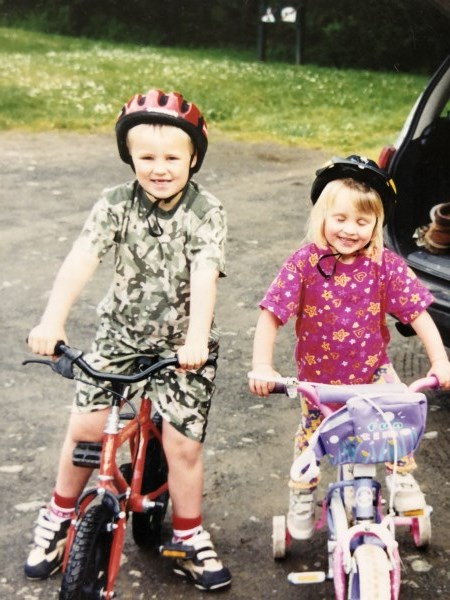 Young Children on bikes