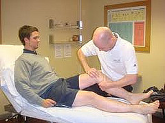 Physio with patient