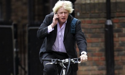 Boris on a phone