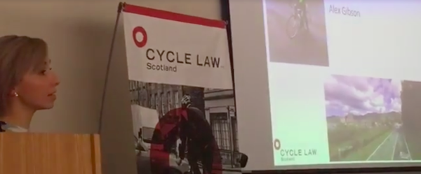 Jodi Gordon presenting 'Cycling and the Law'