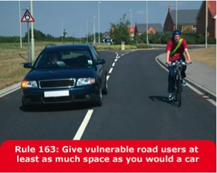 Rule 163 Highway Code